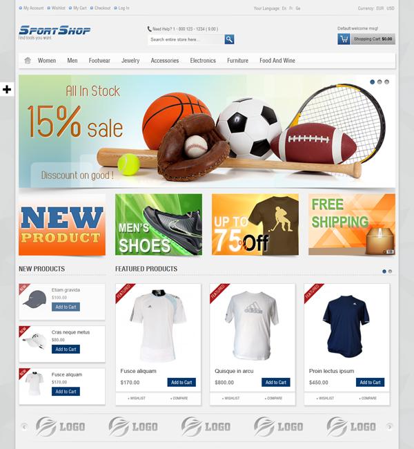 SportShop - Responsive Magento Theme