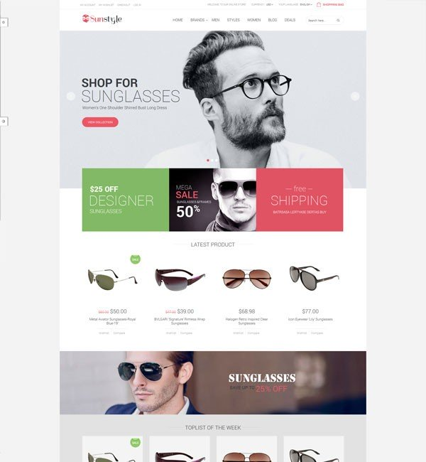 Ves Sunstyle Responsive Multipurpose Magento Theme