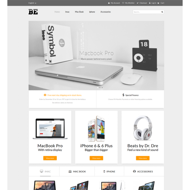 MT BeTech Material Responsive Magento Theme