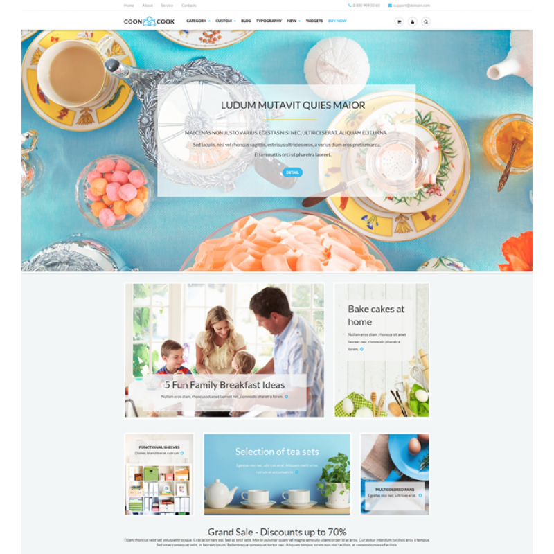 CoonCook Multipurpose Clean Theme