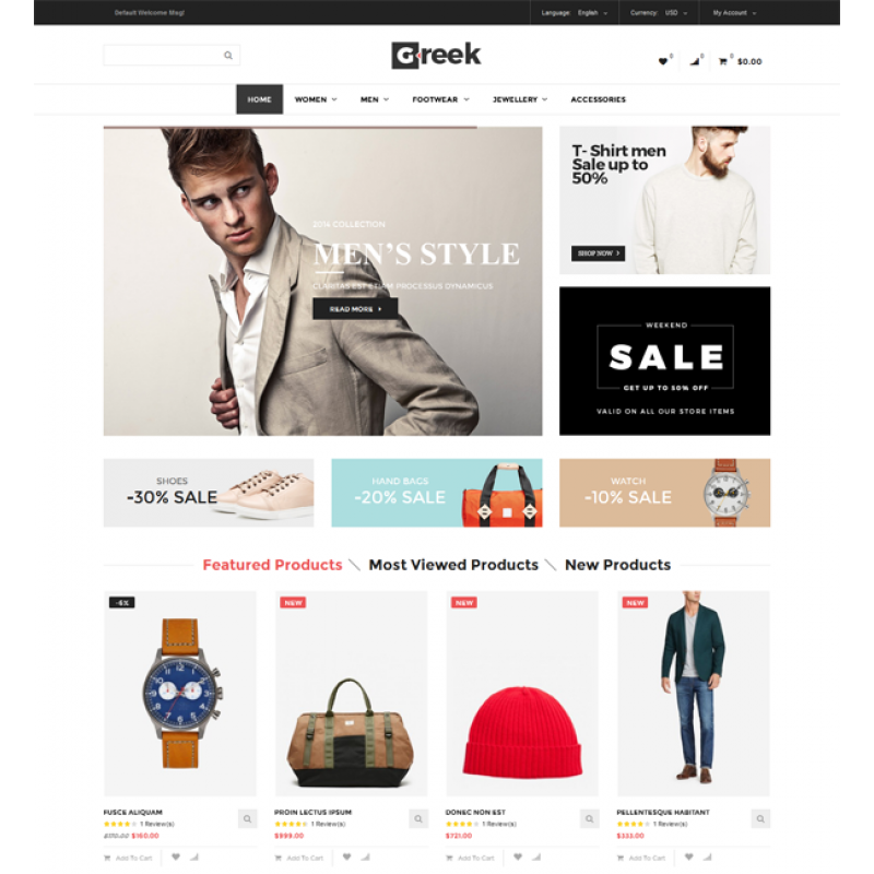 Greek - Responsive Magento Theme
