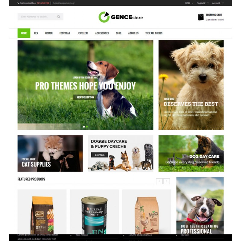 Ogence – Multi Store Responsive Magento Theme