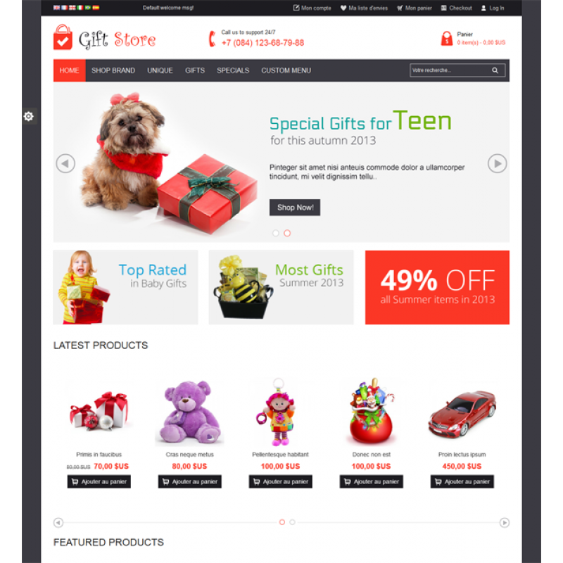 Gift Store Responsive Magento Theme