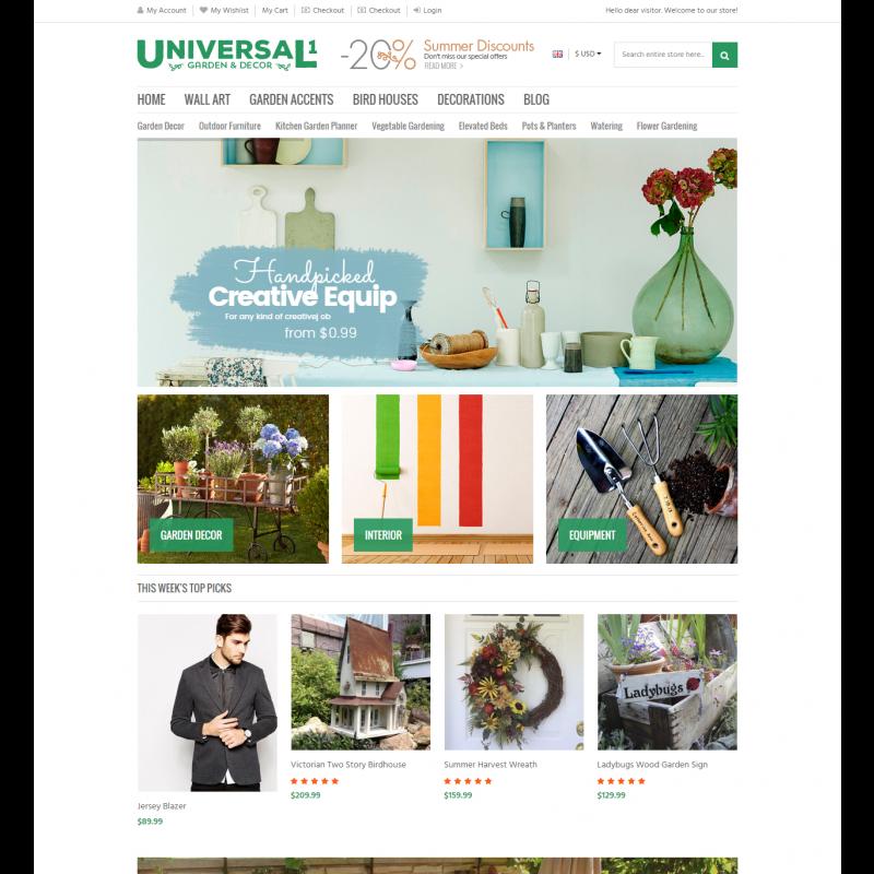 Universal - Responsive Magento Theme